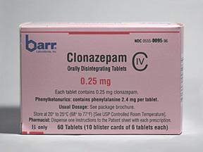 Clonazepam Oral CLONAZEPAM 0.25 MG ODT