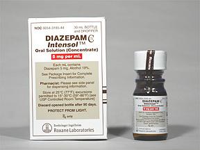 Diazepam Intensol Oral DIAZEPAM 5 MG_ML ORAL CONC