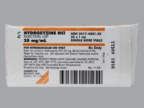 Hydroxyzine HCl IM HYDROXYZINE 25 MG_ML VIAL