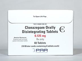 Klonopin Oral CLONAZEPAM 0.125 MG DIS