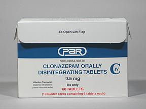 Klonopin Oral CLONAZEPAM 0.5 MG DIS
