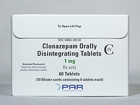 Klonopin Oral CLONAZEPAM 1 MG DIS