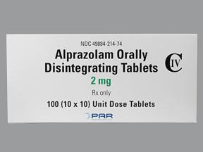 Niravam Oral ALPRAZOLAM 2 MG ODT
