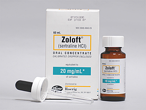 Zoloft Oral ZOLOFT 20 MG_ML ORAL CONC