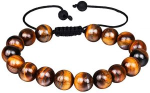 mens anxiety bracelet tiger eye