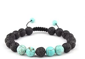 turqouise anxiety bracelet with essential oils