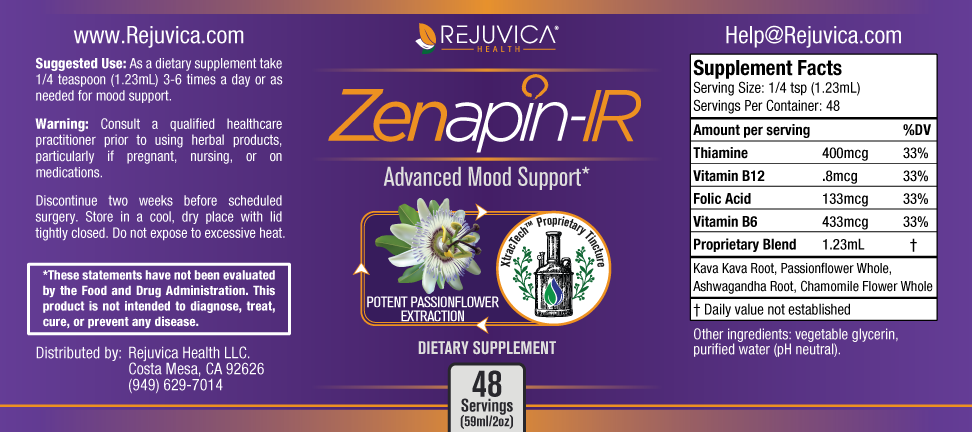 zenapin ir ingredients label